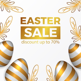 Easter sale promotion banner