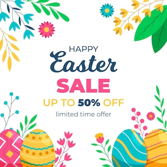 Easter sale square banner template