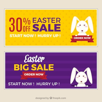 Easter sales banners