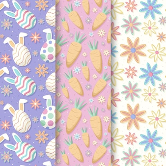 Easter seamless pattern flat design with carrots
