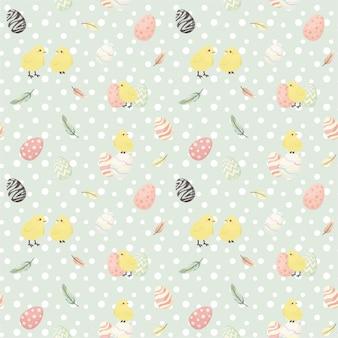 꽃과 휴가 계란 부활절 완벽 한 패턴입니다.