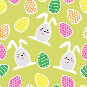 小さな休日の卵とイースターのシームレスなパターン-壁紙、ギフト用紙、パターンの塗りつぶし、webページの背景、春とイースターのグリーティングカードに最適