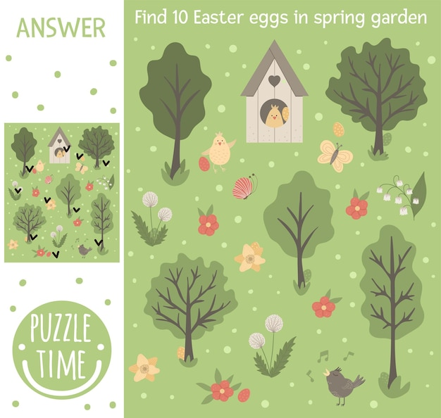 Игра в поисках пасхи для детей с крашеными яйцами