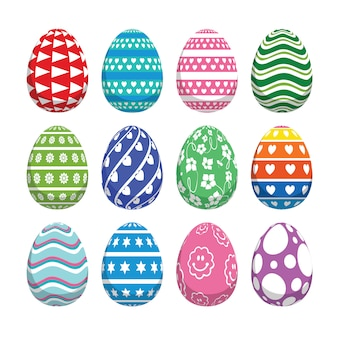 Easter set of decorative eggs