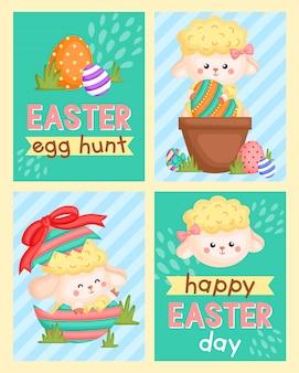 Easter sheep window card