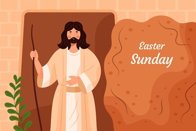 Пасхальное воскресенье иллюстрация