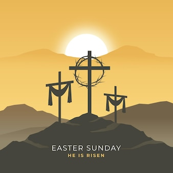 Easter sunday illustration