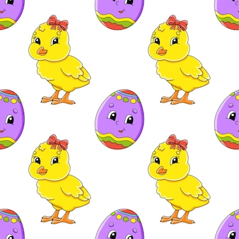 Easter theme. color seamless pattern.