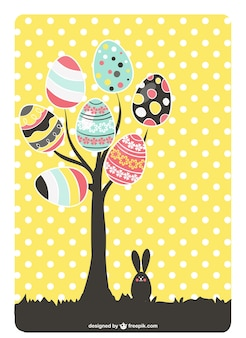 Easter tree with beautiful eggs