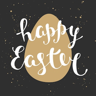 Easter typography elements