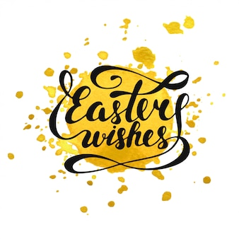 Easter wishes   lettering card