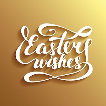 Easter wishes typography design elements