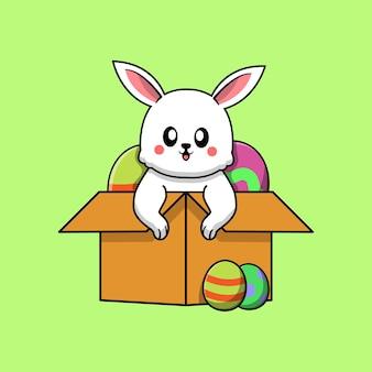 귀여운 토끼와 부활절