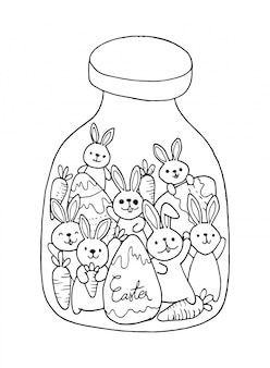 ウサギのいたずら書きとイースター