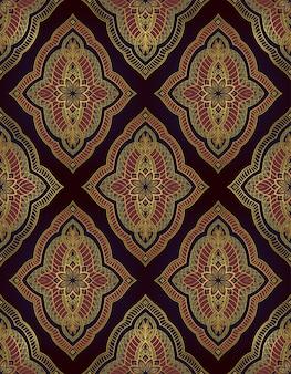 동부 추상 패턴입니다. 어두운 우아한 장식.