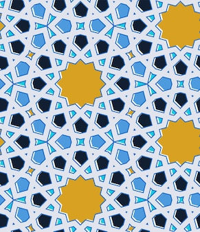 동부 이슬람 전통 모자이크입니다. 완벽 한 패턴입니다. 벡터 일러스트 레이 션.
