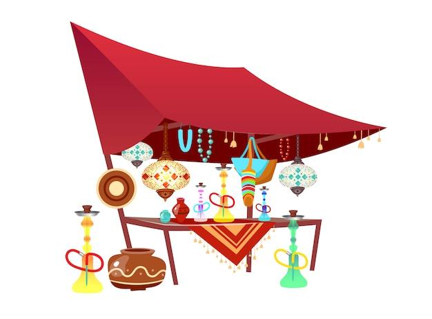 Восточная базарная палатка с сувенирами