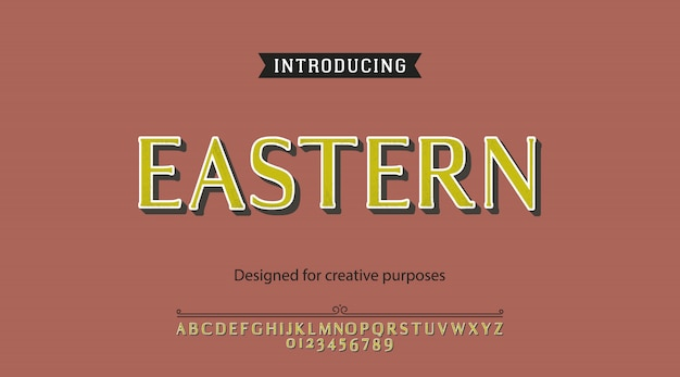 Eastern typeface alphabet