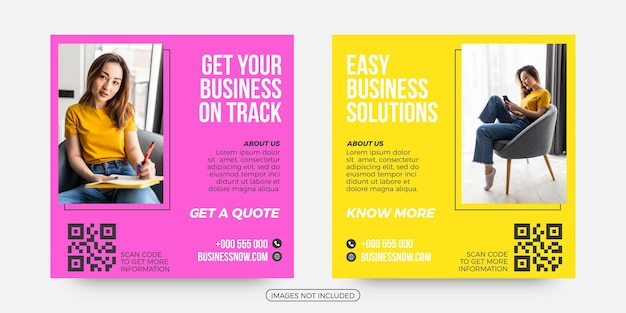 Easy business solutions social media post