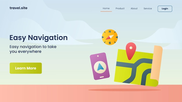 Easy navigation campaign for website home homepage landing