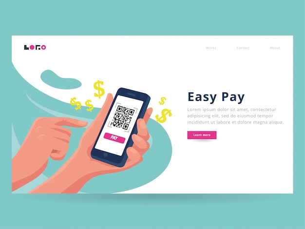 Easy pay landing page template
