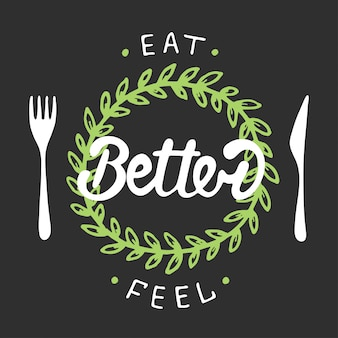 Eat better, feel better with green wreath.
