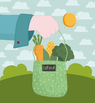 Eat local fresh vegetables