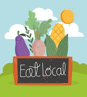 Eat local vegetables cute