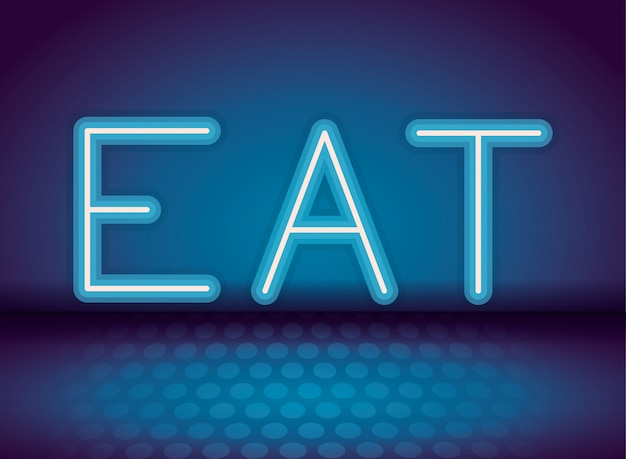 Eat neon advertising