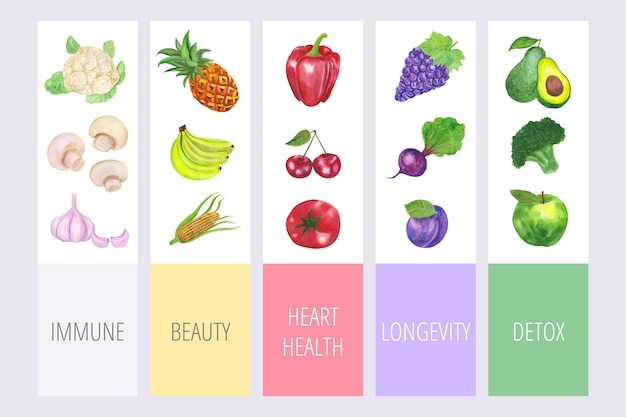 Eat a rainbow concept infographic