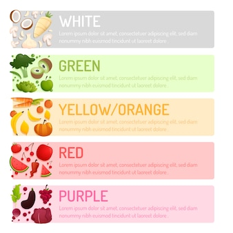Eat a rainbow infographic