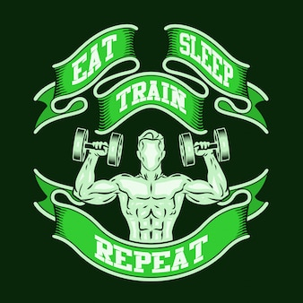 Eat sleep train repeat.