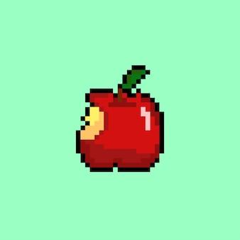 Eaten apple with pixel art style
