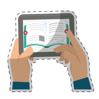 Ebook or book download icon image