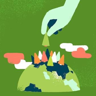 Eco background design
