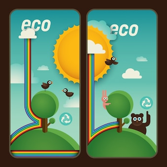 Eco banners design