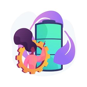 Eco batteria concetto astratto illustrazione