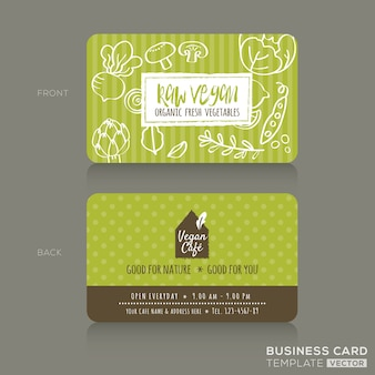 Eco café business card