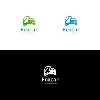 Eco car logo design
