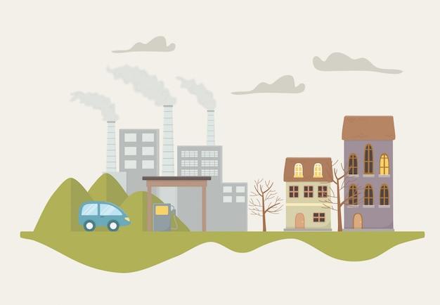 Eco city and save planet design