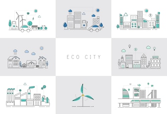 Eco city set