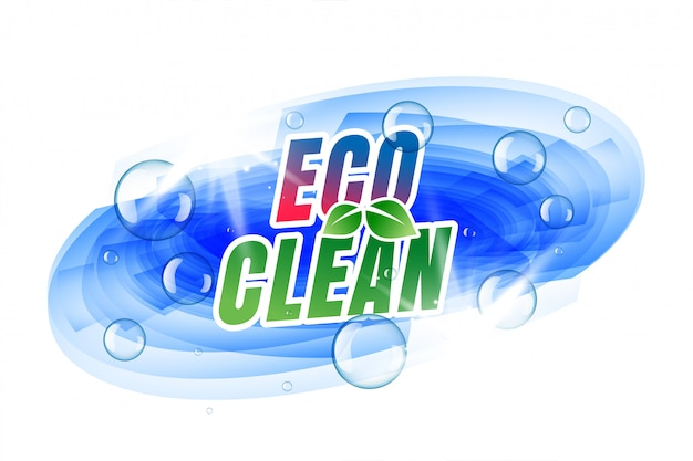 Eco clean template with bubbles