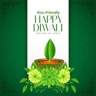Eco deepawali happy diwali background