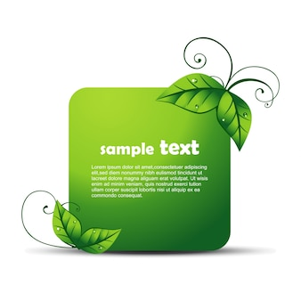 Eco design with space for text