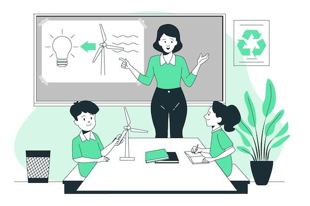에코 교육 개념 그림