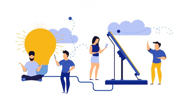 Eco energy, alternative ecology illustration