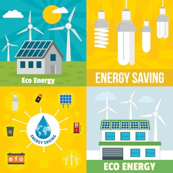 Eco energy background