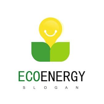 에코 에너지 로고 디자인 서식 파일, 녹색으로 이동, 자연 로고 개념