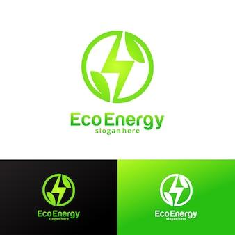 에코 에너지 로고 디자인 서식 파일