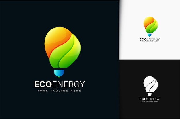 그라데이션이 있는 에코 에너지 로고 디자인